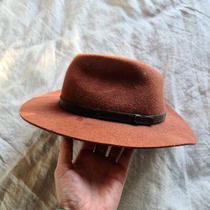 FALLEN BROKEN STREET Felted Wool Brown Hat RRP$100